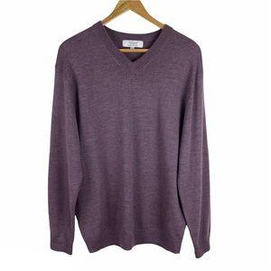 Turnbury Sweater Merino Wool Size M Purple